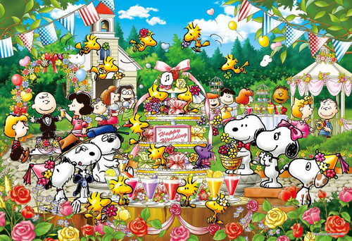 Epoch Jigsaw Puzzle 26-311s Peanuts Woodstock Wedding (300 Pieces)