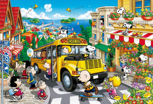 Epoch Jigsaw Puzzle 26-312s Peanuts Happy School Bus (300 Pieces)