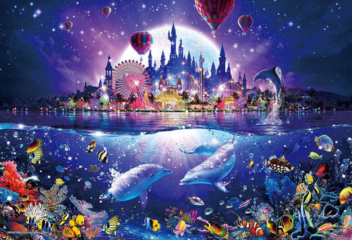 Epoch Jigsaw Puzzle 28-324  Lassen Glowing Puzzle Dream Time (300 Pieces)