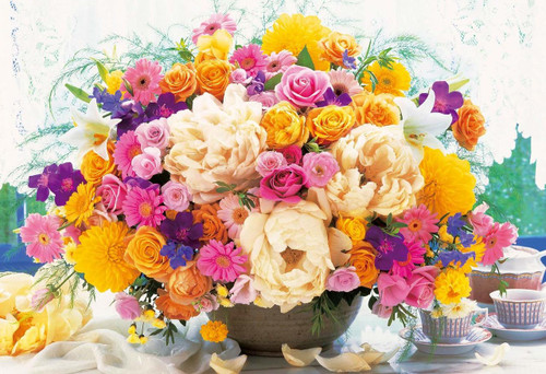 Epoch Jigsaw Puzzle 31-510 Flower Concentration Up! Intelligence Yellow (1053 S-Pieces)