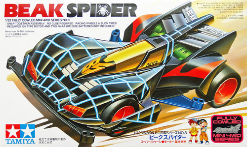 Tamiya 19408 Mini 4WD Beak Spider 1/32
