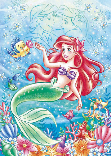 Epoch Jigsaw Puzzle Decoration 74-009 Disney Ocean Romance -Ariel- (500 Pieces)