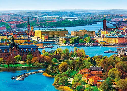 APPLEONE Jigsaw 500-262 Nordics Stockholm Old Town (500 Pieces)