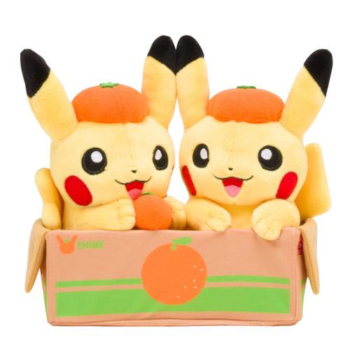 Pokemon Center Original Plush Doll Pair Pikachu Ehime Mikan