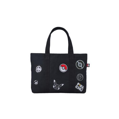 Pokemon Center Original Tote-bag Emblem PIKACHU Black