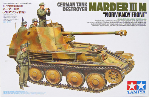 Tamiya 35364 German Tank Destroyer Marder III M Normandy Front 1/35 Scale Kit