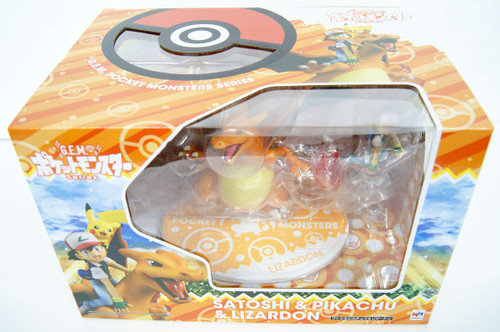 MegaHouse G.E.M. Series Pokemon Ash & Pikachu & Charizard Figure