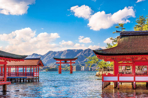 Yanoman Jigsaw Puzzle 10-1343 Aki Spring of Itsukushima (Hiroshima) (1000 Pieces)
