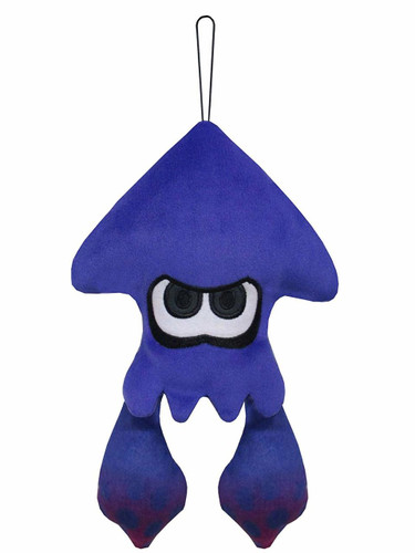 San-ei 200891 Splatoon 2 Cushion Plush Doll Squid Light Blue (S) TJN