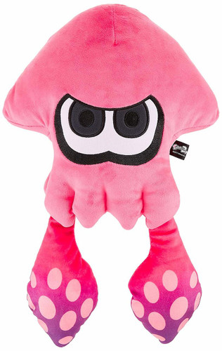 San-ei 200914 Splatoon 2 Plush Doll Big Squid Neon Pink TJN