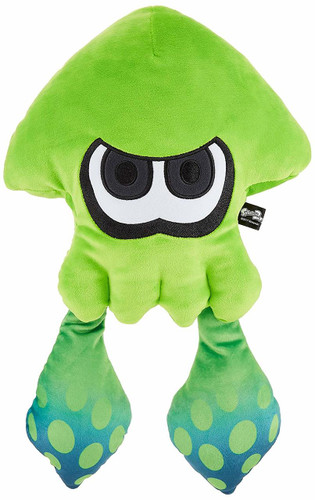 San-ei 200921 Splatoon 2 Plush Doll Big Squid Neon Green TJN