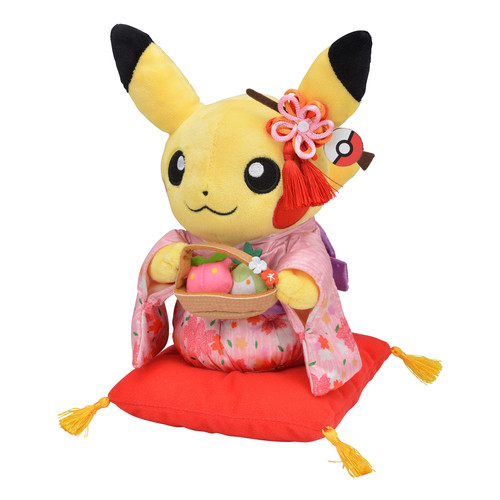 Pokemon Center Original Plush Doll Tea Party Pikachu Female 316