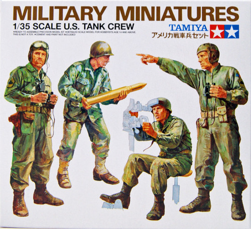Tamiya 35004 U.S. Tank Crew Set 1/35 scale kit