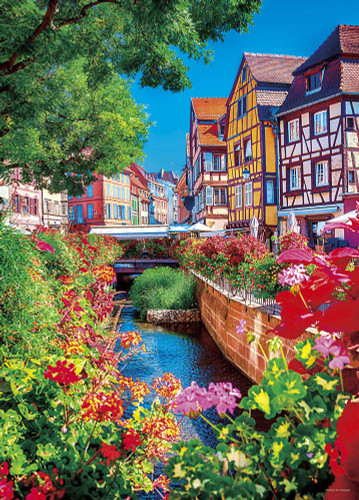 Yanoman Jigsaw Puzzle 05-1017 Alsace Wine (France) (500 Pieces)