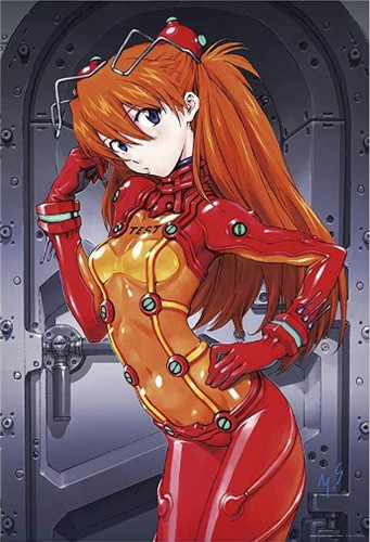 Yanoman Jigsaw Puzzle 10-1338 Asuka Langley Shikinami Test Plugsuit (1000 Pieces)