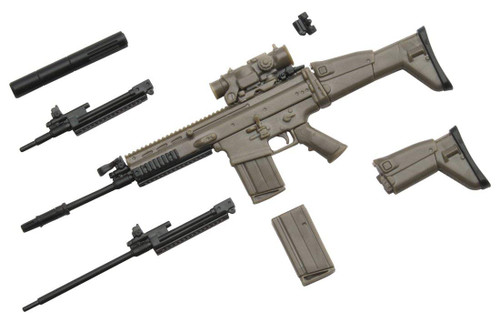 Tomytec LA003 Military Series Little Armory SCAR-H Type 1/12 Scale Plastic Model Kit