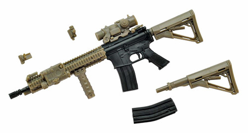 Tomytec LA037 Military Series Little Armory M4A1 Sopmod Block 2 Type 1/12 Scale Plastic Model Kit