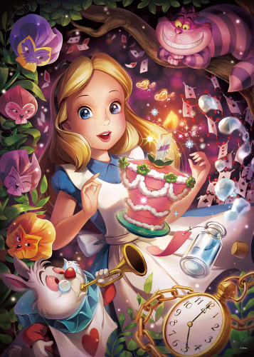 Tenyo Japan Jigsaw Puzzle D500-491 Disney In a Sparkling Dream (Alice in Wonderland) (500 Pieces)
