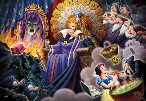 Tenyo Japan Jigsaw Puzzle DPG500-220 Disney Distorted Self-Esteem (Snow White and the Seven Dwarfs) (500 S-Pieces)