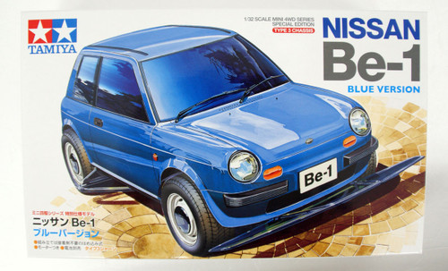 Tamiya Mini 4WD 95477 Nissan Be-1 Blue Version Type 3 Chassis 1/32 Scale
