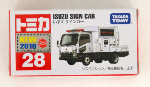 Takara Tomy Tomica 28 Isuzu Sign Car