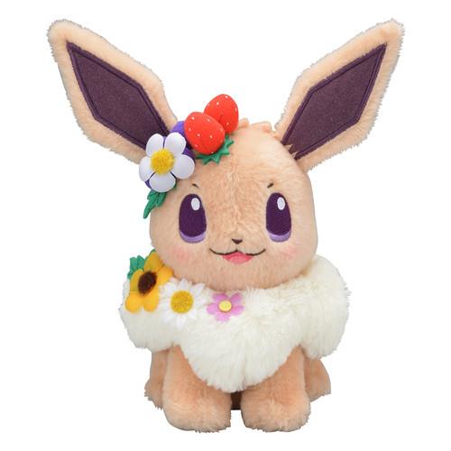 Pokemon Center Original Plush Doll Eevee Easter Garden Party 316