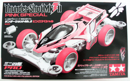Tamiya Mini 4WD 95465 Thunder Shot Mk.II Pink Special MS Chassis