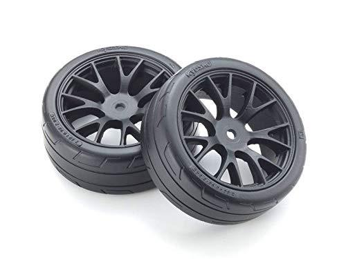 Kyosho FATH701BKM Premounted TC Tire FZ02 (M/2pcs)