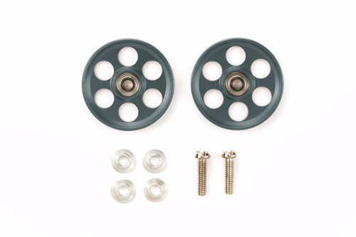 Tamiya 95454 Mini 4WD HG Lightweight 19mm Aluminum Ball-Race Rollers (Ringless/Gun Metal)