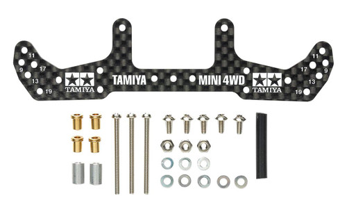 Tamiya 95478 Mini 4WD HG Carbon Wide Rear Plate (for AR Chassis) (1.5mm)