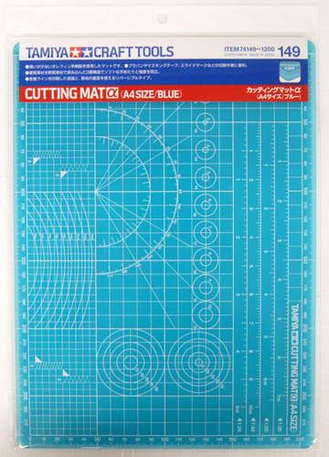 Tamiya 74149 Cutting Mat Alpha (A4 Size, Blue)