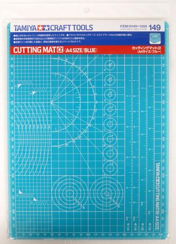 Tamiya 74149 Cutting Mat Alpha (A4 Size, Blue)