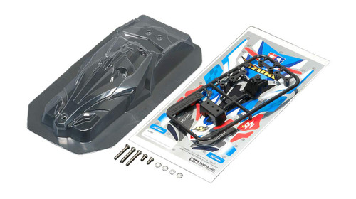 Tamiya 95445 Mini 4WD JR Clear Body Set AVANTE Mk. III AZURE