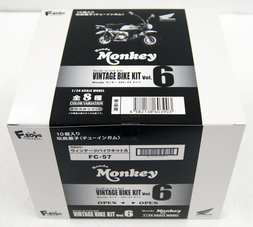 F-Toys Vintage Bike Kit Vol.6 Honda Monkey 1/24 Scale Semi-assembled kit