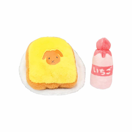 Kawada YF-013 Yume Fuwa Town Plush Doll Bread & Strawberry Milk