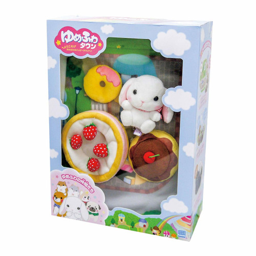 Kawada YF-025 Yume Fuwa Town Plush Doll Strawberry Cake & Cafeteria Set