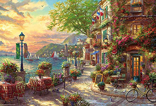 Beverly Jigsaw Puzzle 31-492 Thomas Kinkade French Riviera Cafe (1000 Pieces)