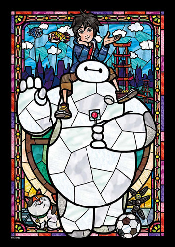 Tenyo Japan Jigsaw Puzzle DSG266-959 Big Hero 6 Baymax Stained Art (266 Pieces)