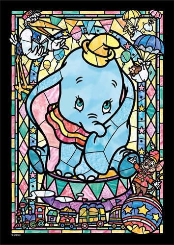 Tenyo Japan Jigsaw Puzzle DSG266-966 Disney Dumbo Stained Art (266 Pieces)