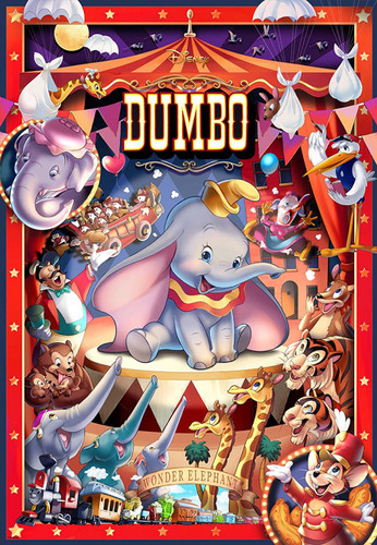Tenyo Japan Jigsaw Puzzle D1000-040 Disney Dumbo Circus (1000 Pieces)