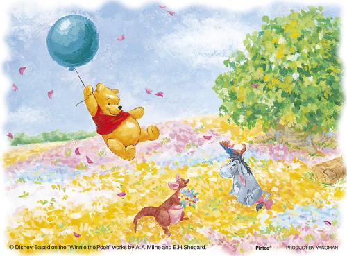 Yanoman Jigsaw Puzzle 2301-10 Disney Winnie the Pooh On the Wind (150 Plastic Pieces)