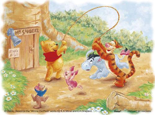 Yanoman Jigsaw Puzzle 2301-11 Disney Winnie the Pooh Fun Time (150 Plastic Pieces)