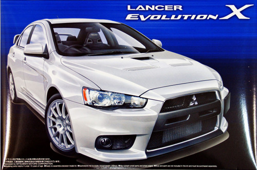 Aoshima 44902 Mitsubishi Lancer Evolution X 1/24 Scale Kit