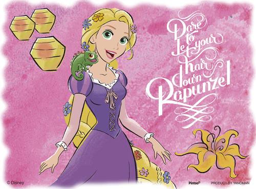Yanoman Jigsaw Puzzle 2301-20 Disney Tangled My favorite Rapunzel (150 Plastic Pieces)