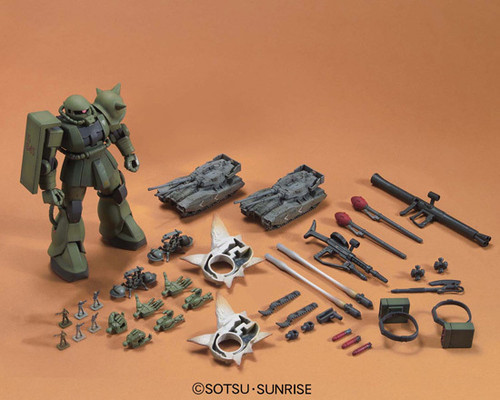 Bandai 577320 Gundam MS-06 ZAKU GROUND WAR SET 1/144 Scale Kit