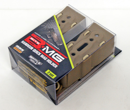 Laylax Battle Style Bite Mag Hand Quick Mag Holder 2pcs DE for Airsoft Replica 139054