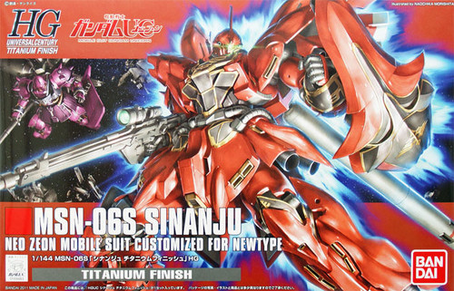 Bandai 694836 GUNDAM MSN-06S SINANJU Titanium Finish 1/144 Scale Kit
