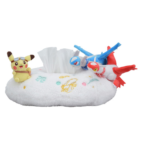 Pokemon Center Original Tissue Box Cover Pikachu Riding Latias & Latios