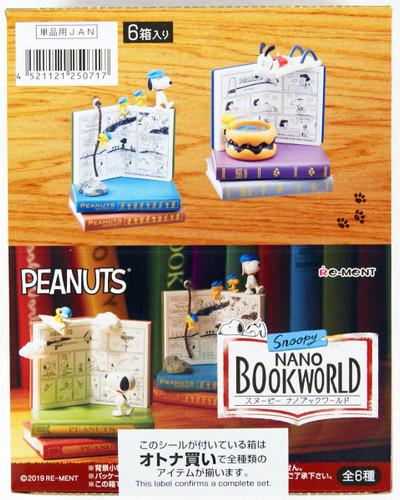 Re-ment Peanuts Snoopy Nano Book World 1 BOX 6 Pcs Complete Set