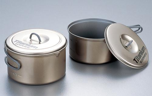 Evernew ECA413 Ceramic Series Titanium Non-Stick Large Pot Set L